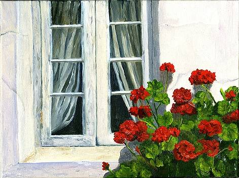 Flowers at the Window by Deborah Butts