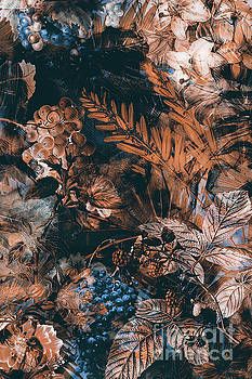 Justyna Jaszke JBJart - flowers brown blue