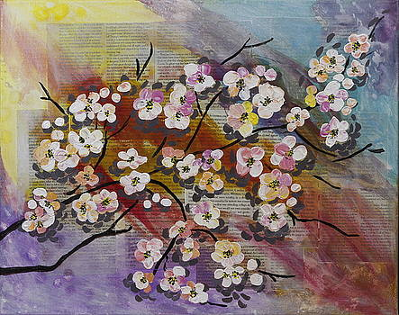 Flowers Filled Branch by Seema Varma