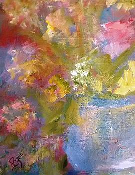 Flowers in a Blue Vase by Patricia Taylor