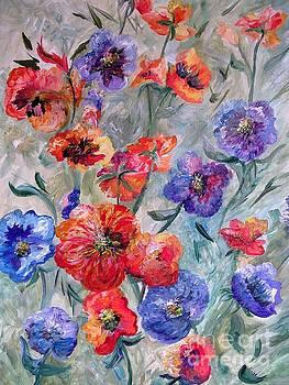 Flowers in a Field of Green by Eloise Schneider