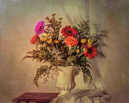 Flowers in a Vase by Jerri Moon Cantone