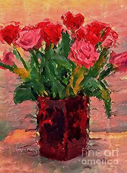 Flowers In A  Vase by MaryLee Parker