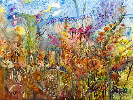 Flowers in a Wash by Shirley Sykes Bracken
