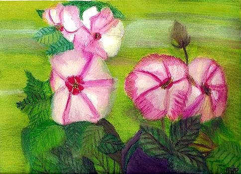 Flowers in Bloom by Mark Richard Luther