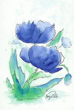 Flowers in blue by Georgia Pistolis