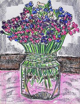Flowers in Glass Jar by Gerhardt Isringhaus