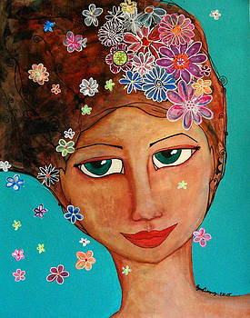 Flowers in Her Hair by Regina  Vasquez
