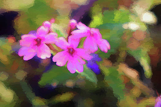 Flowers in the Garden 719 - Painting by Ericamaxine Price
