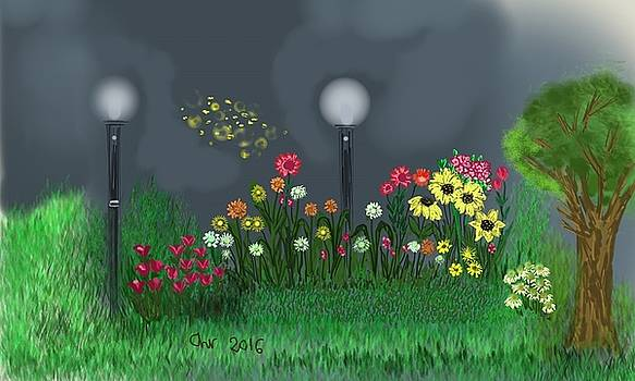Flowers in the night by Christina K