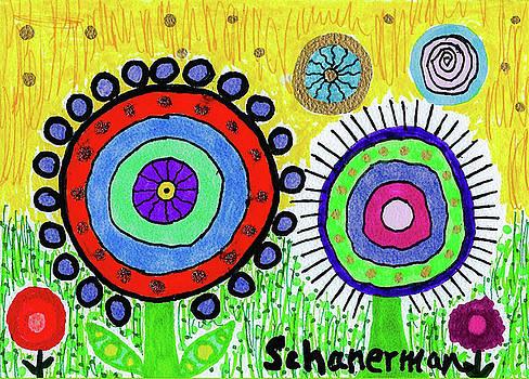 Flowers in the Round 2 by Susan Schanerman