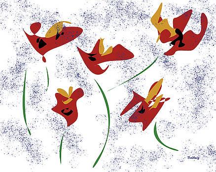 Flowers in the Wind by David Bridburg