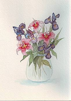 Flowers In Vase by Connie Morrison