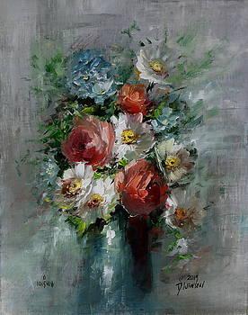 Flowers in Vase by David Jansen