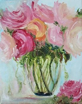 Flowers in Vase by Julie Lourenco