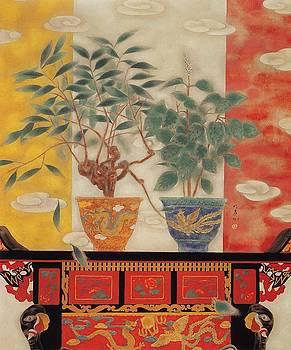 Flowers in vase-Legend of Drago Phoenix  by Minxiao Liu