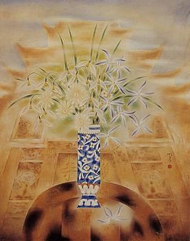 Flowers in vase-Leisure by Minxiao Liu
