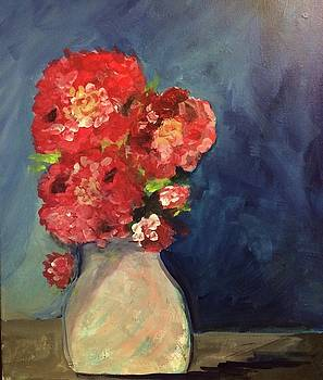 Flowers In Vase by Phyllis Hollenbeck