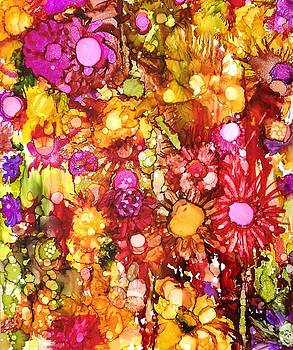 Flowers in Yellow and Pink by Suzanne Canner