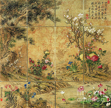 Flowers of the Four Seasons. by Giuseppe Castiglione