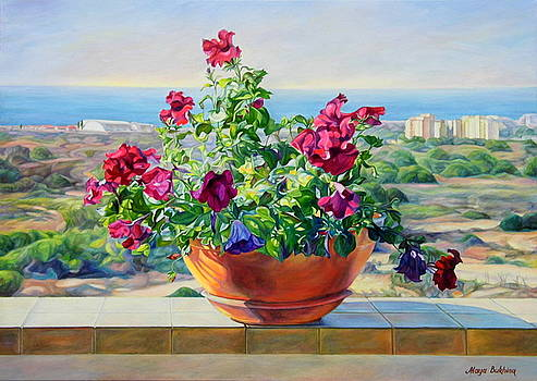 Flowers on the balcony  by Maya Bukhina
