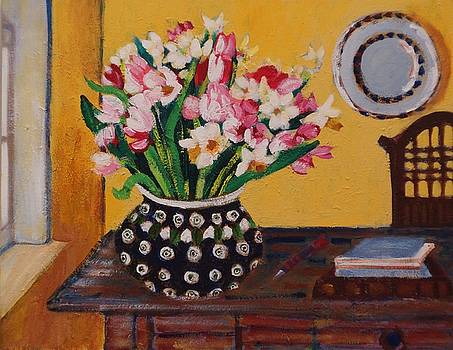 Flowers on the Desk by Fran Steinmark