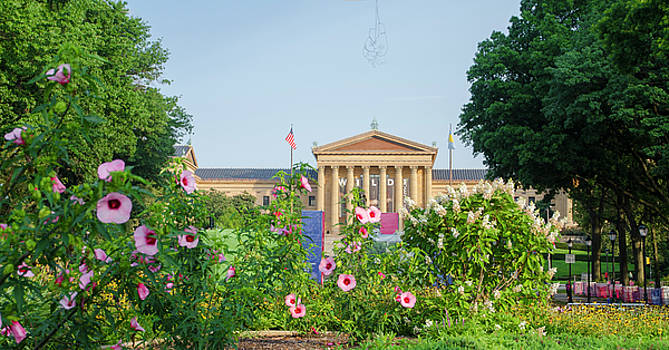 Flowers on the Parkway - Philadelphia Art Museum by Bill Cannon