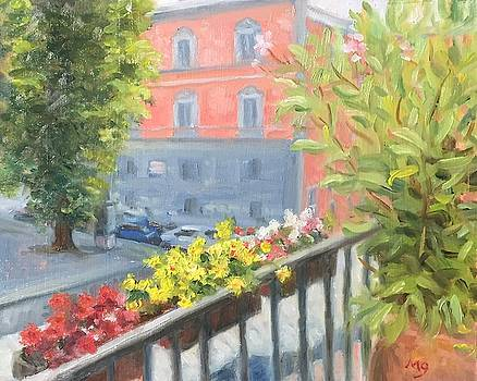 Flowers on the Terrace by Michael Gillespie