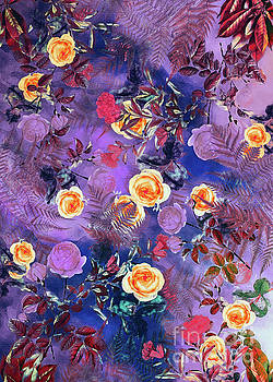 Justyna Jaszke JBJart - Flowers purple decor