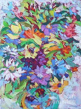 Flowers Splash by Elizabeth Elkin