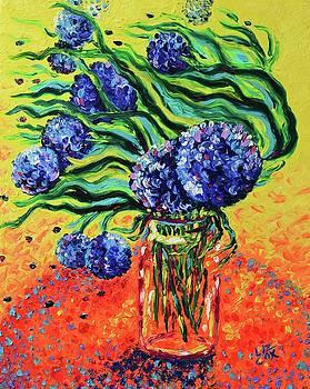 Flowing Hydrangeas by Elizabeth Cox