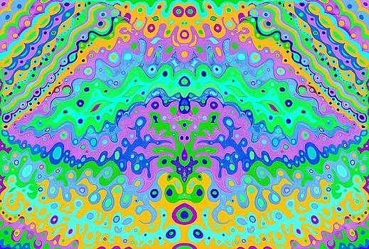 Flowing Life Abstract Art by Julia Woodman
