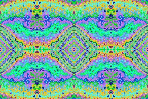 Flowing Life Art Fractal 2 Double by Julia Woodman