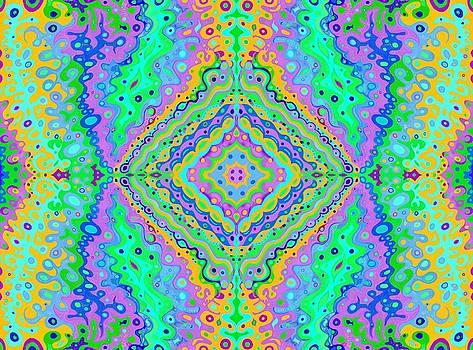 Flowing Life Art Fractal 3B by Julia Woodman