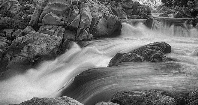 Flowing Waters at Kern River, California by John A Rodriguez