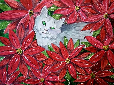 Christmas Cat by B Kathleen Fannin