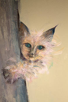 Fluffy cat from mural by John Scholey