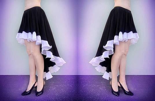 Sofia Metal Queen - Ameynra fashion skirt. Double beauty