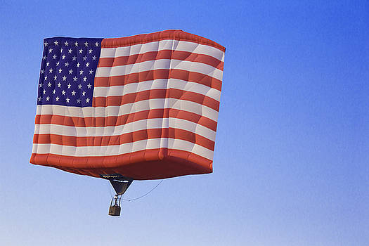 Fly High American Flag by Jodi Jacobson