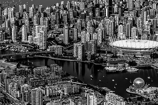 Fly over Vancouver BandW by Michael Hope