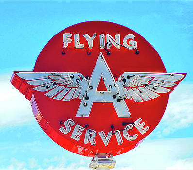 Flying A Service Sign by Joan Reese