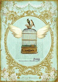 Flying bird cage by Wendy Paula Patterson
