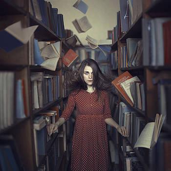 Flying books by Anka Zhuravleva