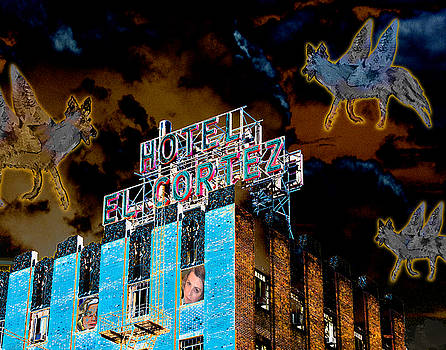 Ann Tracy - Flying Coyotes Circling the El Cortez Hotel