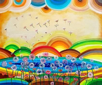 Flying dandelions by Radosveta Zhelyazkova