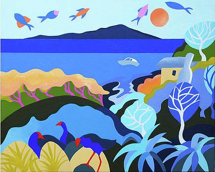 Flying Fish and Lazy Days Waikanae by Gillian Cronin
