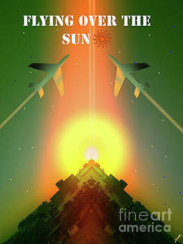 Flying Over The Sun by Artist Nandika Dutt