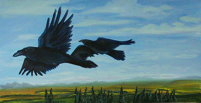 Flying Over the Tanana Flats by Amy Reisland-Speer