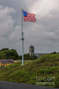 Dale Powell - Flying Proud over Fort Moultrie