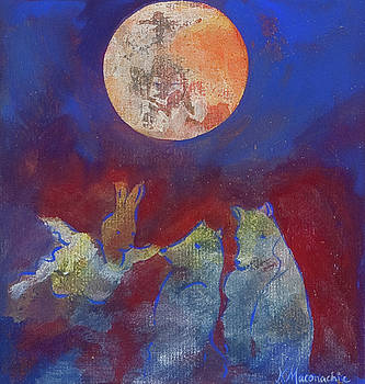 Flying Rabbit and the Full Moon by Kate Maconachie